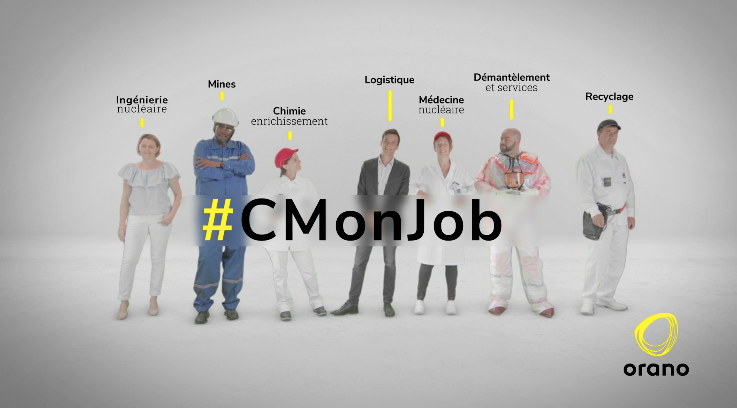 Générique #CMonJob – Portraits de collaborateurs – ORANO (ex Areva)