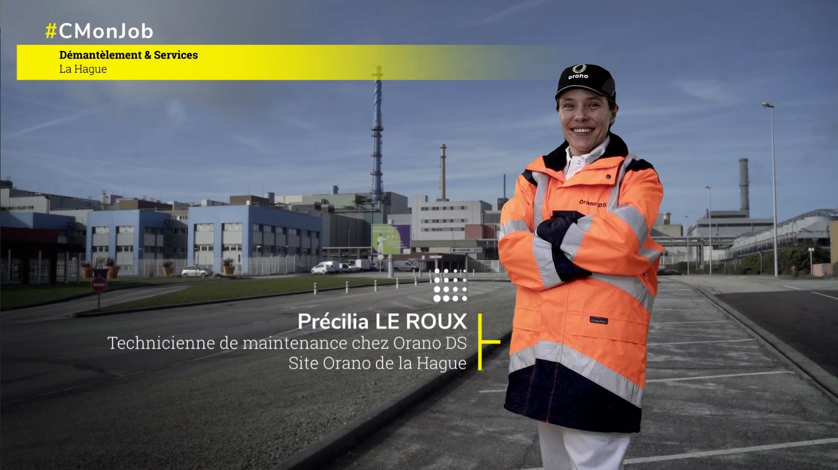 Portrait Précilia L. – Technicienne D&S – Orano (La Hague)