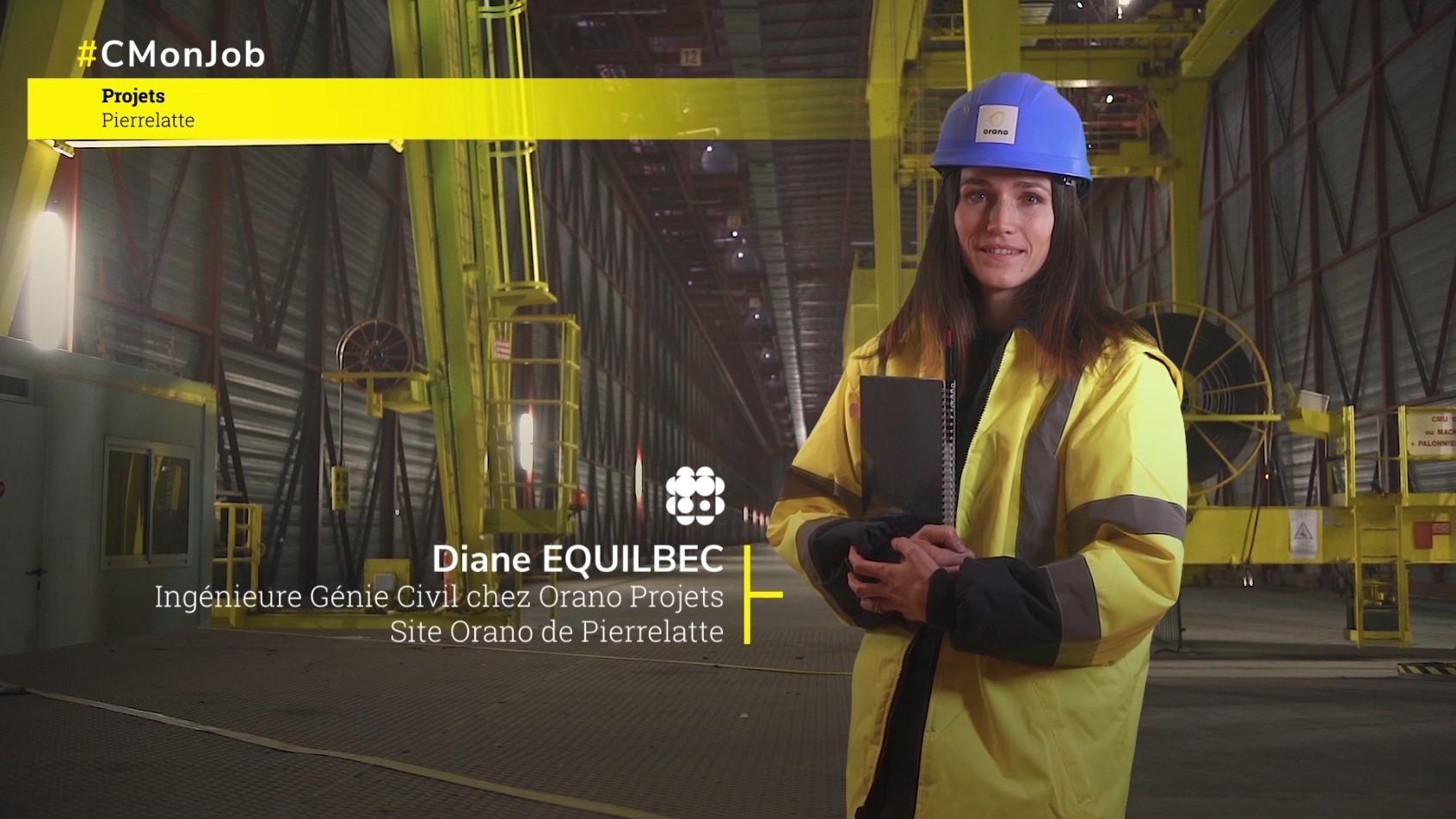Portrait Diane E. – Ingénieure Génie Civil – Orano Projets (Pierrelatte)