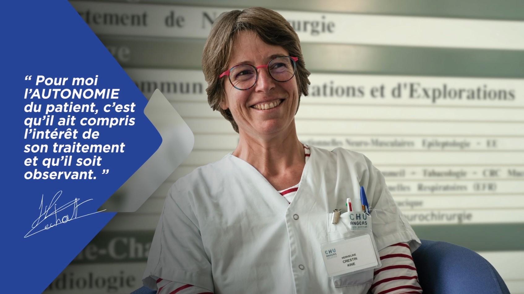 Témoignage professionnel de santé – Kinésithérapeute en pneumologie (Angers)